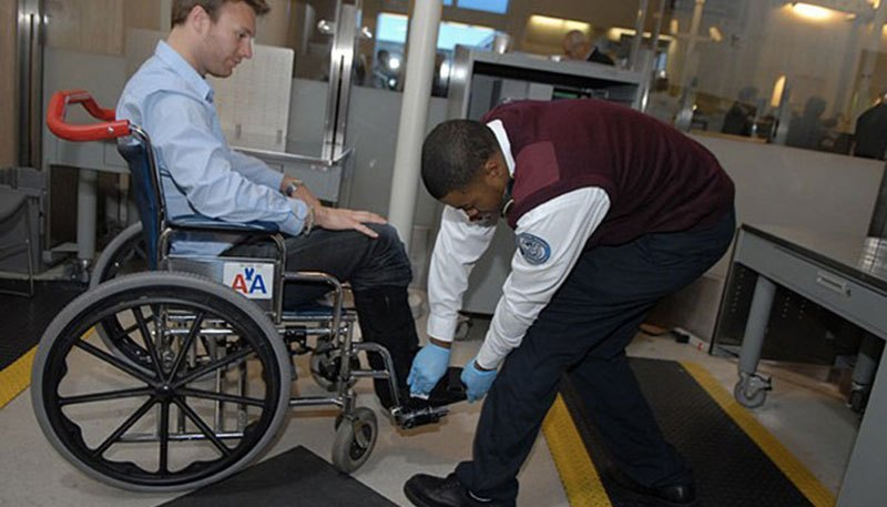 TSA wheelchair inspection
