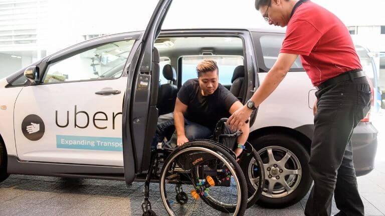 best apps for wheelchair users looking for accessible ride shares uber lyft taxi