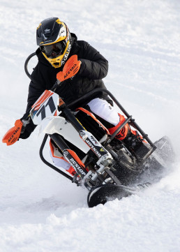 will posey racing his adaptive dirt bike at the winter x-games