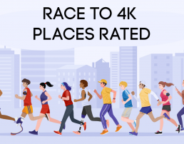 animation of people of various ethnicities, genders and disabilities all participating in a race together