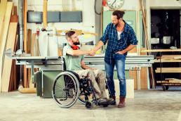 disability etiquette handshake